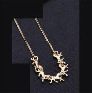 #JE0048 Gold plated / Collier chevaux