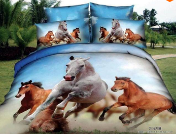 #DE0180 Horse bedding set / Ensemble housse de couette