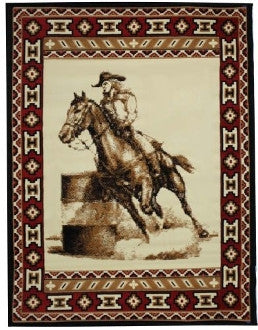 #DE0185 Barrel race Rug / Tapis