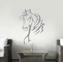 #DE0217 Horse wall sticker / Décoration murale
