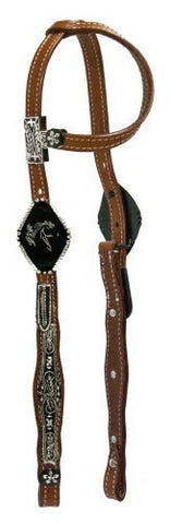 #HE0197 One ear headstall / Bride à oreille SHOWMAN