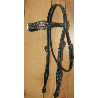 #HE0089 Draft headstall / Bride chevaux lourds (draft)