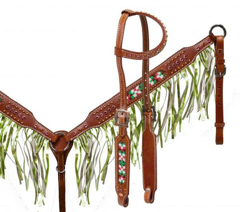 #HE0258 Headstall set / Ensemble de bride SHOWMAN