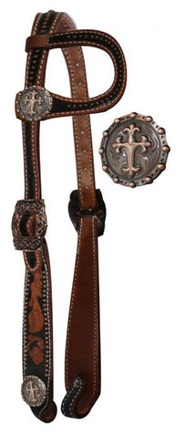#HE0276 Single ear headstall / Bride à oreille SHOWMAN