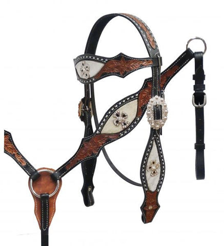 #HE0296 Headstall set / Ensemble bride SHOWMAN