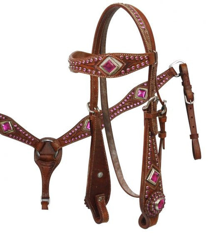 #HE0299 Headstall set / Ensemble bride SHOWMAN
