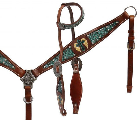 #HE0347 Headstall set / Ensemble de bride SHOWMAN