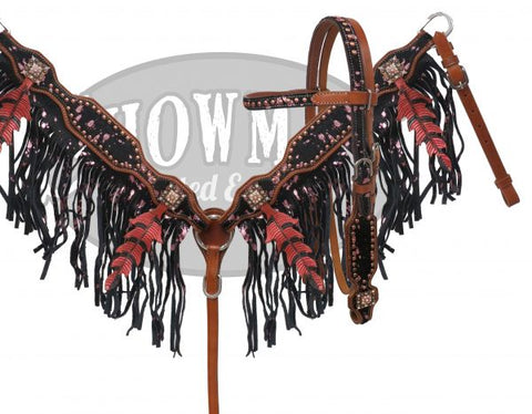 #HE0554 Headstall set / Ensemble de bride SHOWMAN