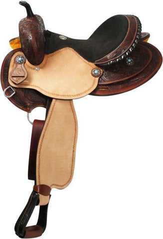 #SA0234 Barrel saddle / Selle baril DOUBLE T
