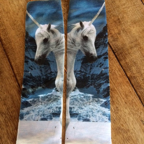 #OJ0049 Unicorn socks / Bas licorne