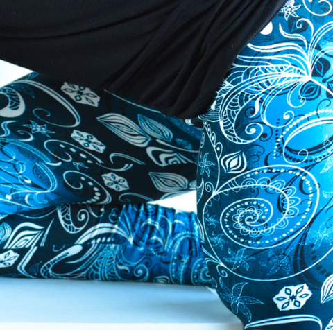 #LA100-3587 Leggings Blue Lilly LEGART