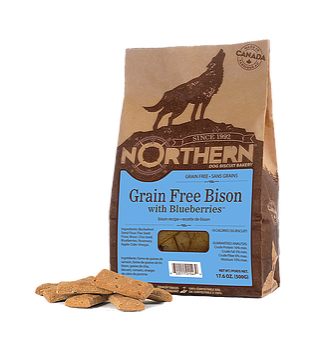#CN0070 Dog biscuit Bison with Blueberries / Biscuit pour chien Bison et bleuet 500 g