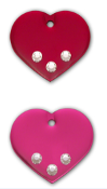 #EN0002 Fashion heart tags (stone) / Médailles mode (pierres) coeur
