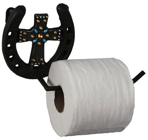 #DE0784 Horseshoe Toilet Paper Roll Holder / Porte rouleau papier toilette