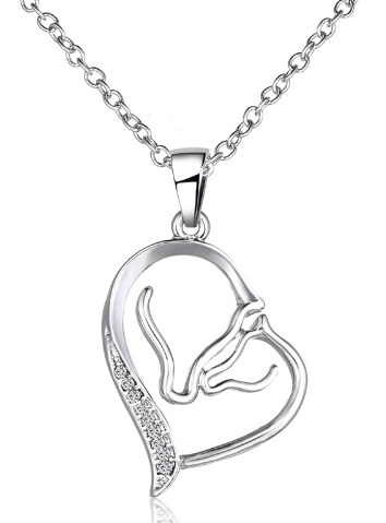 #JE0190 Mare & foal necklace / Collier jument et poulain