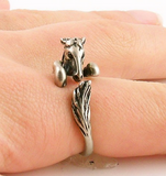 #JE0223 Horse adjustable ring / Bague de cheval ajustable