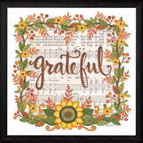"""GRATEFUL WREATH"" Art Print-Framed- Plaque"