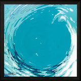 """ CIRCLING WAVE II "" Art Print-Framed- Plaque"