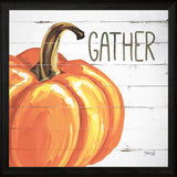 """GATHER PUMPKIN"" Art Print-Framed- Plaque"