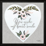 """YOU MAKE MY HEART SMILE"" Art Print-Framed- Plaque"