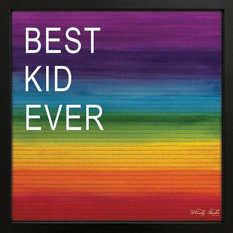 """BEST KID EVER"" Art Print-Framed- Plaque"