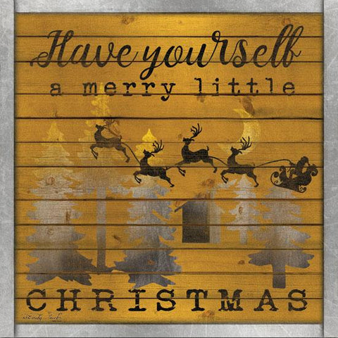 """HAVE YOURSELF A MERRY LITTLE CHRISTMAS"" Art Print-Framed- Plaque"