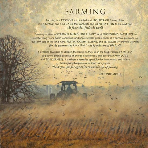"""FARMING"" Art Print-Framed- Plaque"