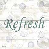 """REFRESH BUBBLES"" Art Print-Framed- Plaque"