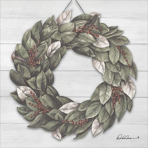 """BAY LEAF WREATH"" Art Print-Framed- Plaque"