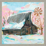 """ WINDMILL BARN"" Art Print-Framed- Plaque"