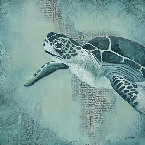 """SEA TURTLE"" Art Print-Framed- Plaque"