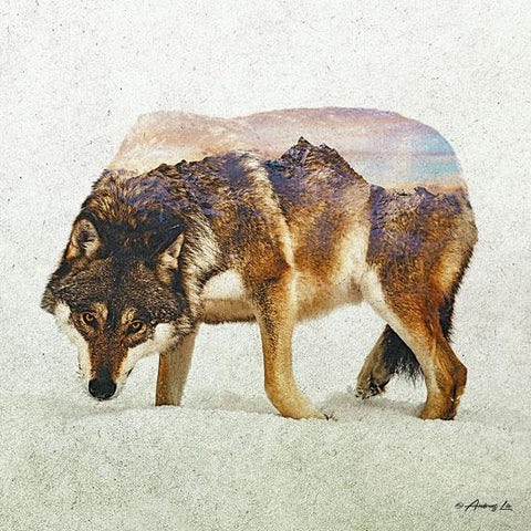 """WOLF - NORTH"" Art Print-Framed- Plaque"