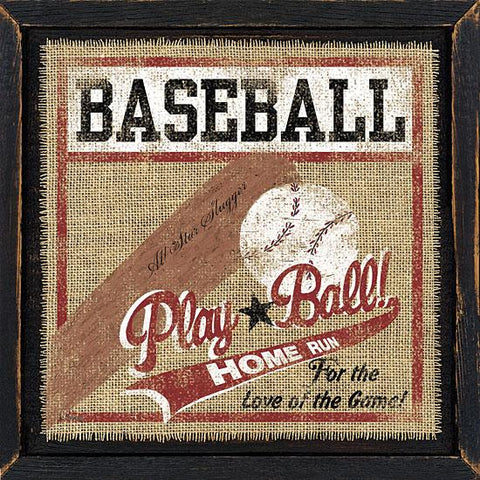 """BASEBALL"" Art Print-Framed- Plaque"
