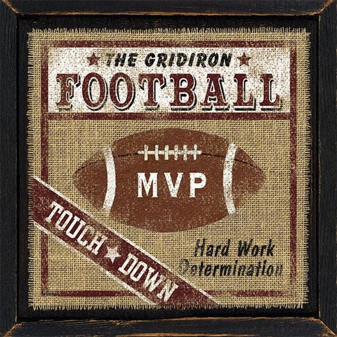 """FOOTBALL"" Art Print-Framed- Plaque"