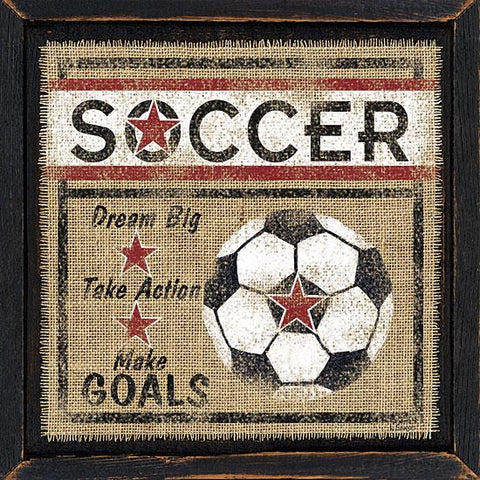 """SOCCER"" Art Print-Framed- Plaque"
