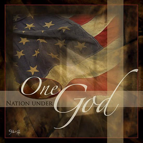 """ONE NATION UNDER GOD"" Art Print-Framed- Plaque"