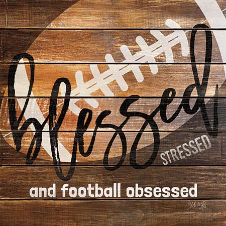 """FOOTBALL OBSESSED"" Art Print-Framed- Plaque"