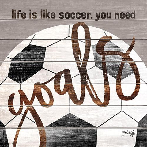 """SOCCER GOALS"" Art Print-Framed- Plaque"
