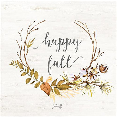 """HAPPY FALL"" Art Print-Framed- Plaque"