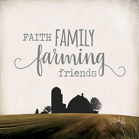 """FAITH FAMILY FARMING FRIENDS"" Art Print-Framed- Plaque"