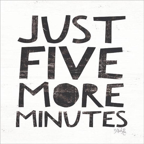 """ JUST FIVE MORE MINUTES"" Art Print-Framed- Plaque"