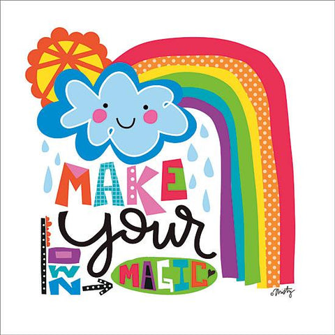 """MAKE YOUR OWN MAGIC RAINBOW"" Art Print-Framed- Plaque"