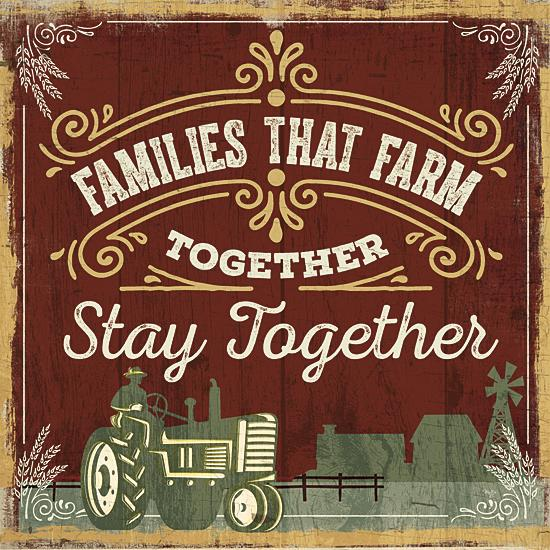 """FAMILIES THAT FARM TOGETHER"" Art Print-Framed- Plaque"