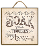 """SOAK YOUR TROUBLES AWAY "" Art Print-Framed- Plaque"
