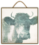 """AROUND THE FARM - BULL"" Art Print-Framed- Plaque"