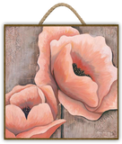 """PINK POPPIES"" Art Print-Framed- Plaque"