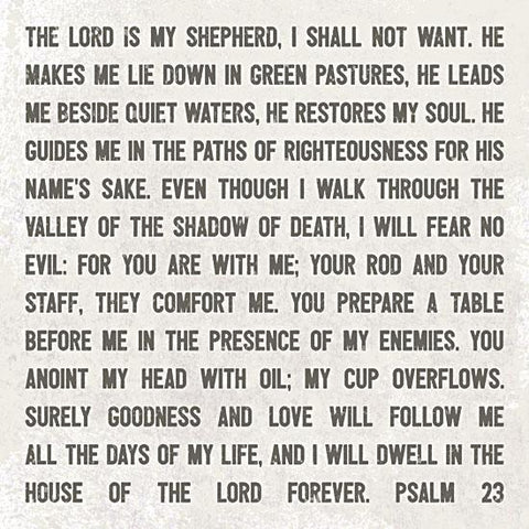 """THE LORD IS MY SHEPHERD"" Art Print-Framed- Plaque"