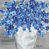 """ BLOOMING BLUES "" Art Print-Framed- Plaque"