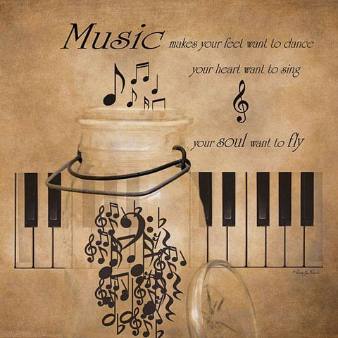 """MUSIC"" Art Print-Framed- Plaque"