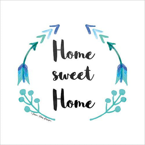 """HOME SWEET HOME"" Art Print-Framed- Plaque"